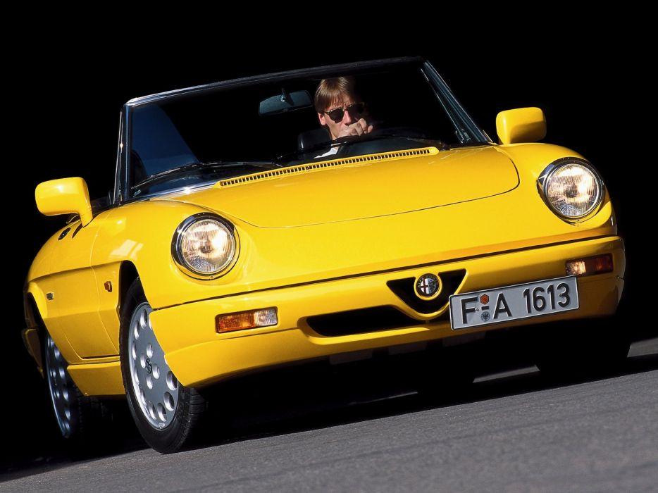alfa romeo spider classic cars convertible wallpaper