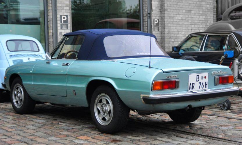 alfa romeo spider classic cars convertible vert green wallpaper