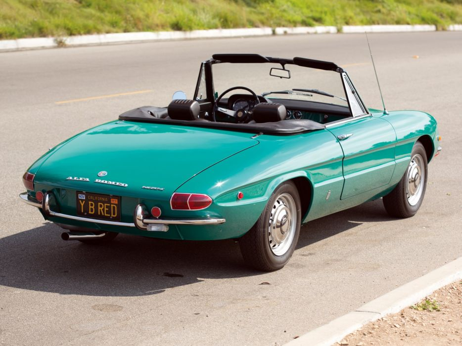 alfa romeo spider classic cars convertible vert green wallpaper