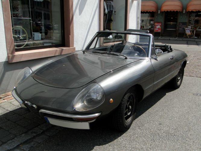 alfa romeo spider classic cars convertible grey gris wallpaper