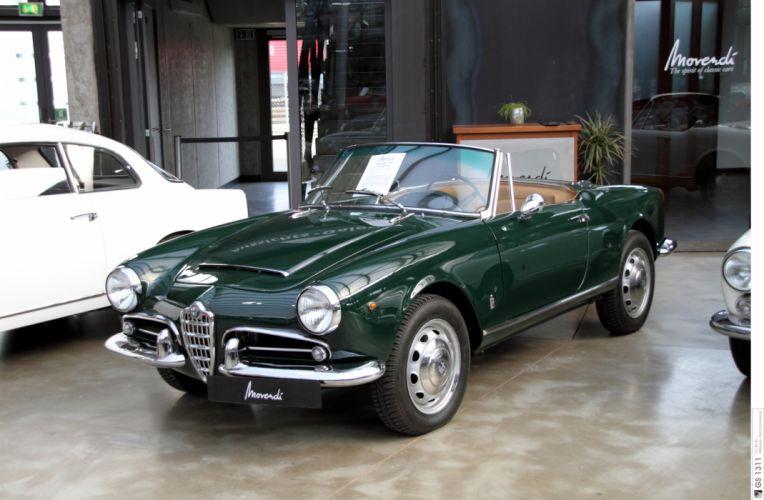 Alfa Romeo Giulietta Spider classic cars convertible wallpaper