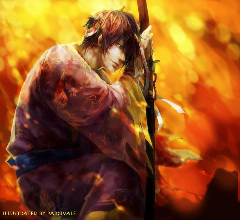 gintama anime series shinsuke male character wallpaper