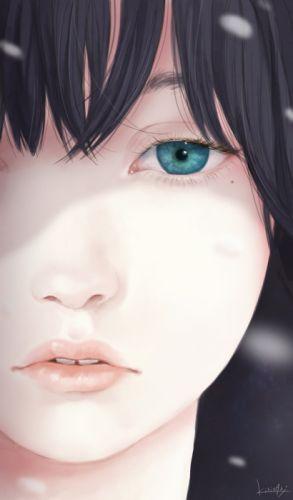 original blue eyes face girl beautiful wallpaper