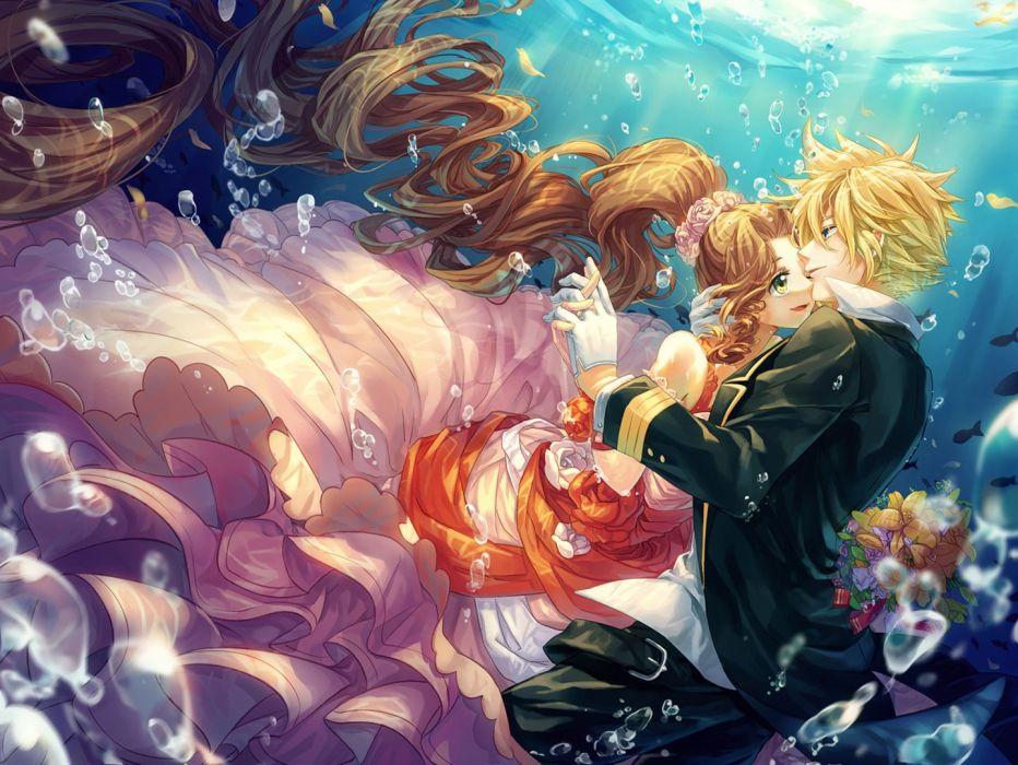 anime final+fantasy+VII-cloud water cat+princess-short+hair wallpaper
