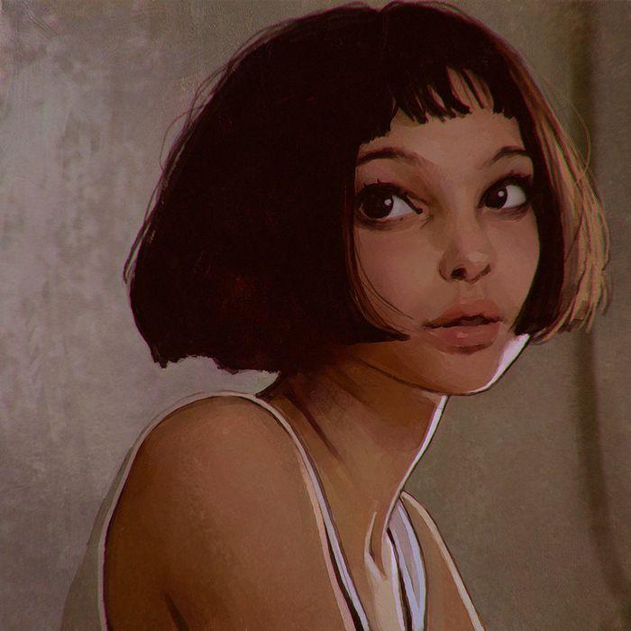 leon movie natalie+portman-beautiful mathilda+lando-single-short+hair wallpaper