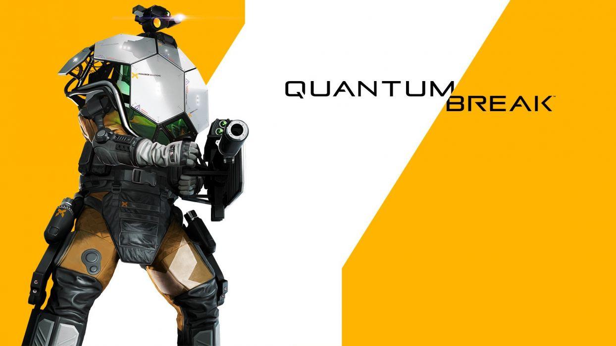 QUANTUM BREAK action shooter fighting sci-fi warrior poster wallpaper