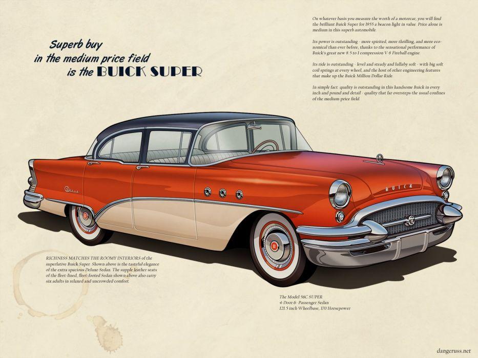 1955 Buick - Vexel wallpaper