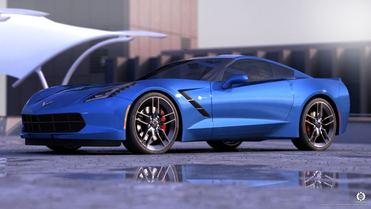 2014 Vette Blue wallpaper