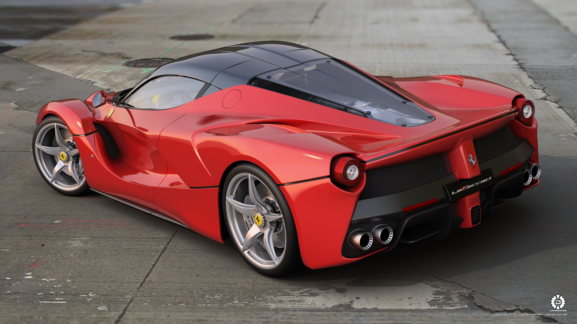 laferrari rear perspective wallpaper 1920x1080 617203 wallpaperup. Black Bedroom Furniture Sets. Home Design Ideas