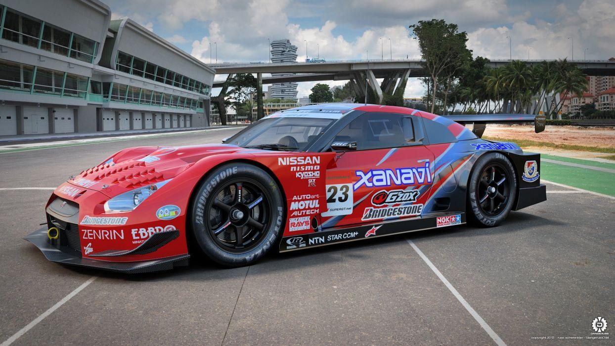 Xanavi Nissan GT-R Super GT 02 wallpaper