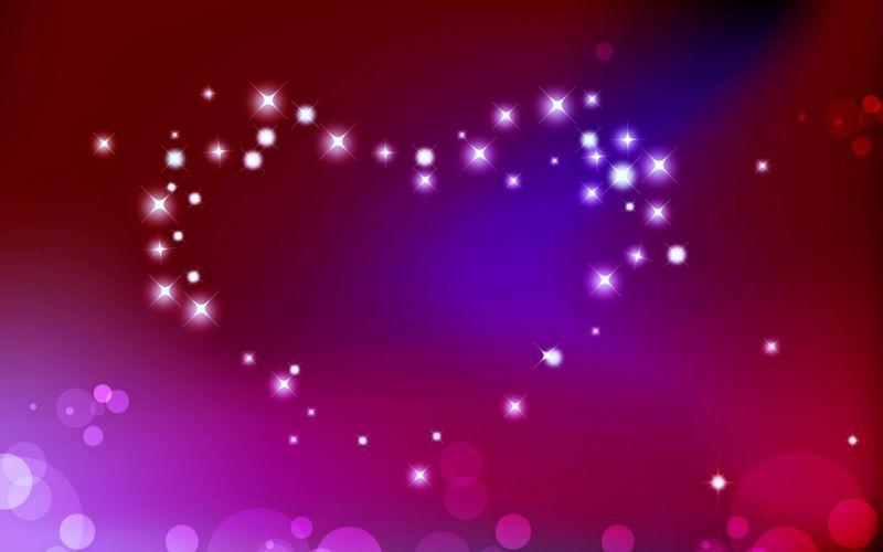 love heart wallpaper pink colors stars romance wallpaper