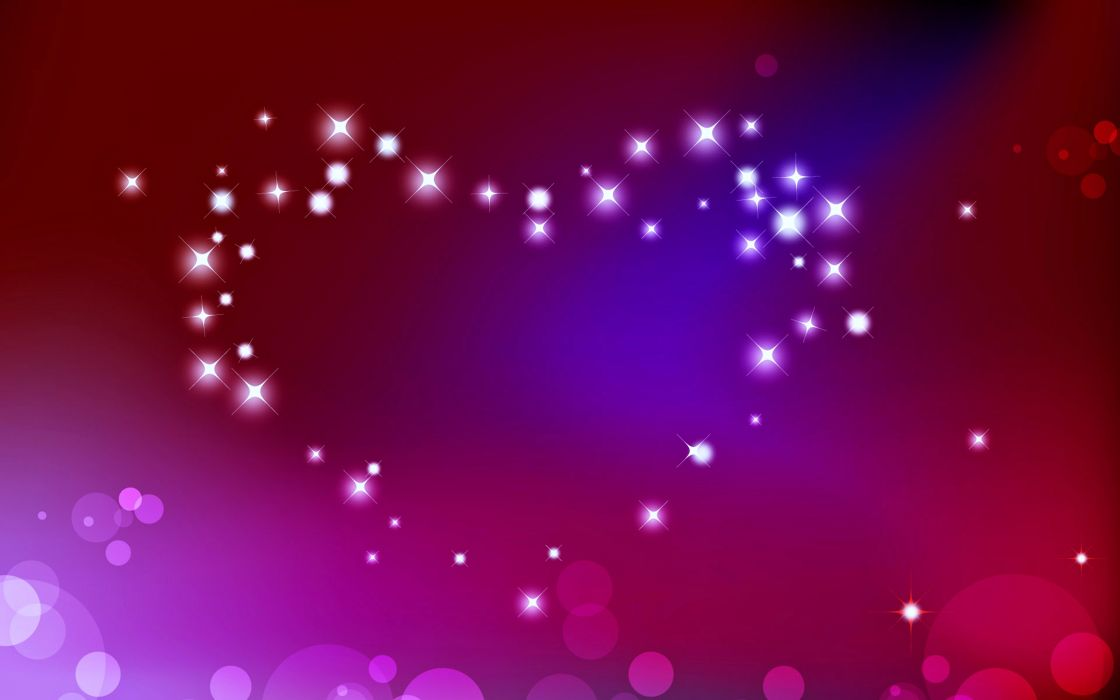 love heart wallpaper pink colors stars romance wallpaper