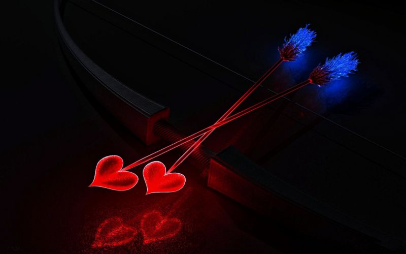 heart - love - red - romance - stars - wallpaper - Arrows wallpaper