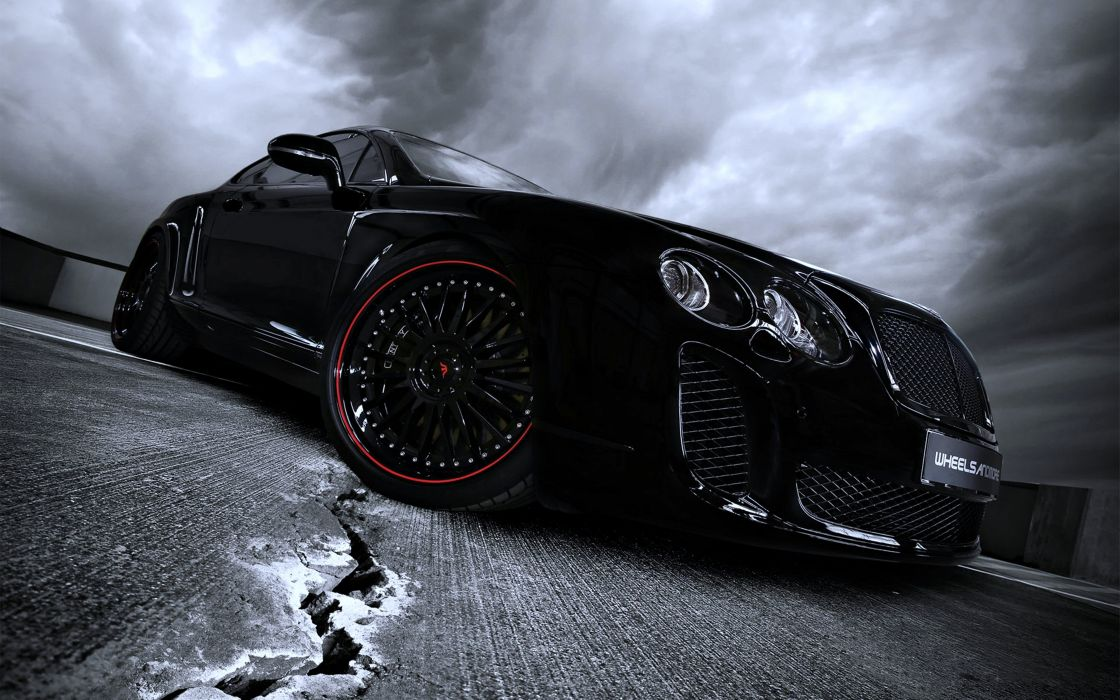 cars - cloudy - black - Wheelsandmore2010 - Bentley-Ultrasports702 - motors - road - Speed wallpaper