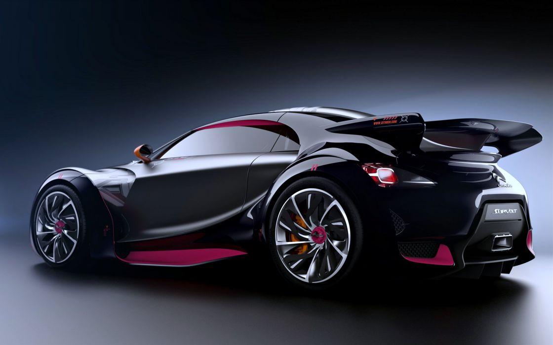 Citroen Survolt-Concept2010 cars speed black motors wallpaper