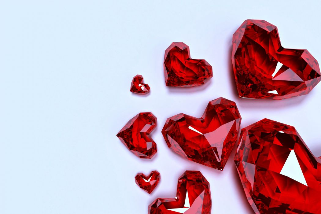 diamond red hearts love life riches Jewelry beauty wallpaper