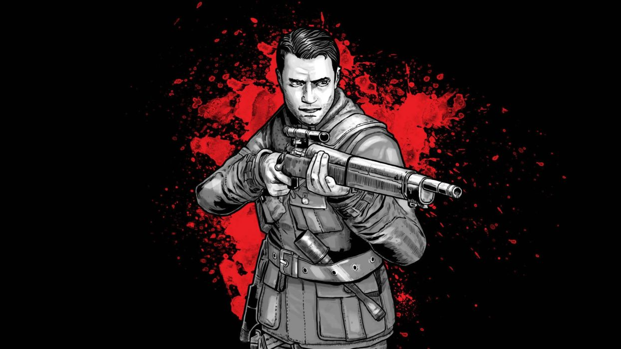 NAZI ZOMBIE ARMY TRILOGY survival horror shooter dar action 1zatrilogy apocalyptic nazi fighting tactical sci-fi sniper elite blood weapon gun wallpaper