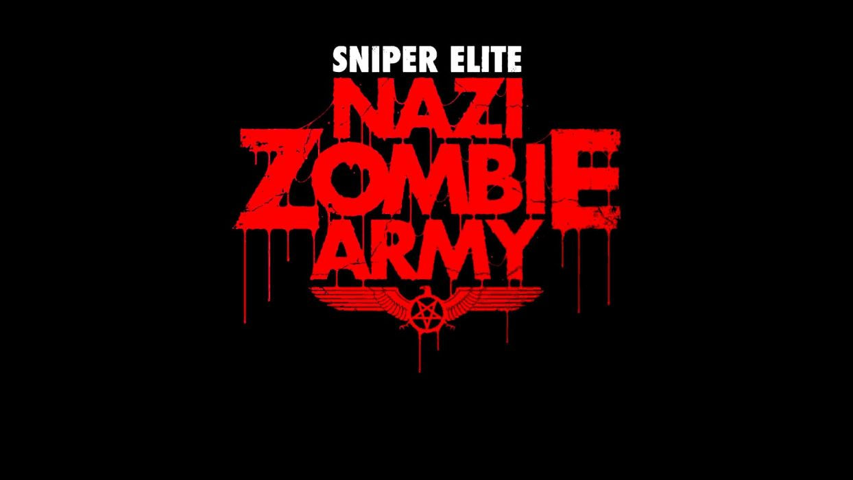 NAZI ZOMBIE ARMY TRILOGY survival horror shooter dar action 1zatrilogy apocalyptic nazi fighting tactical sci-fi sniper elite poster blood wallpaper