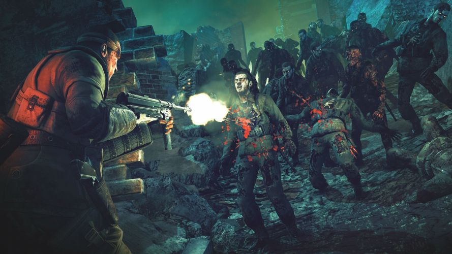 NAZI ZOMBIE ARMY TRILOGY survival horror shooter dar action 1zatrilogy apocalyptic nazi fighting tactical sci-fi sniper elite blood wallpaper