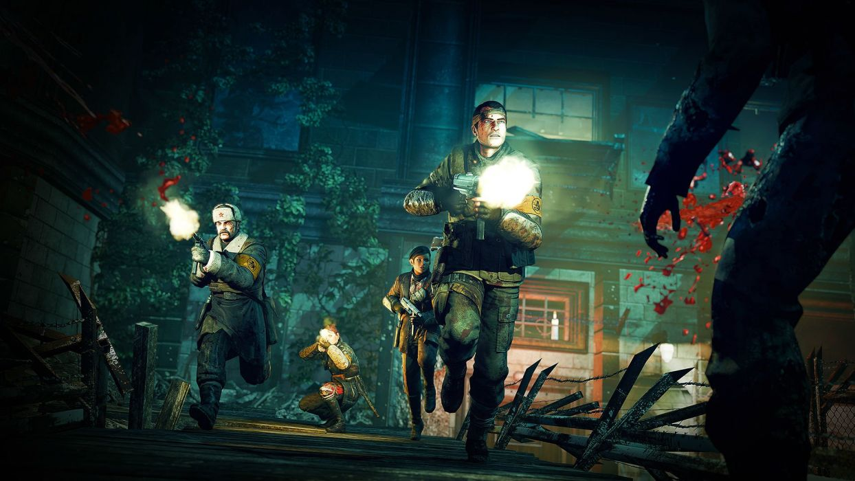 NAZI ZOMBIE ARMY TRILOGY survival horror shooter dark action 1zatrilogy apocalyptic nazi fighting tactical sci-fi sniper elite blood wallpaper