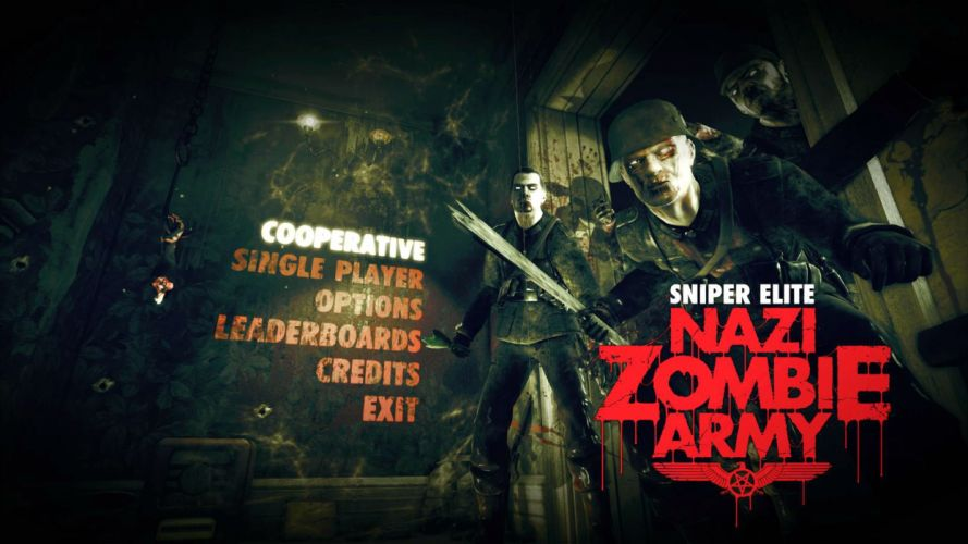 NAZI ZOMBIE ARMY TRILOGY survival horror shooter dark action 1zatrilogy apocalyptic nazi fighting tactical sci-fi sniper elite poster wallpaper