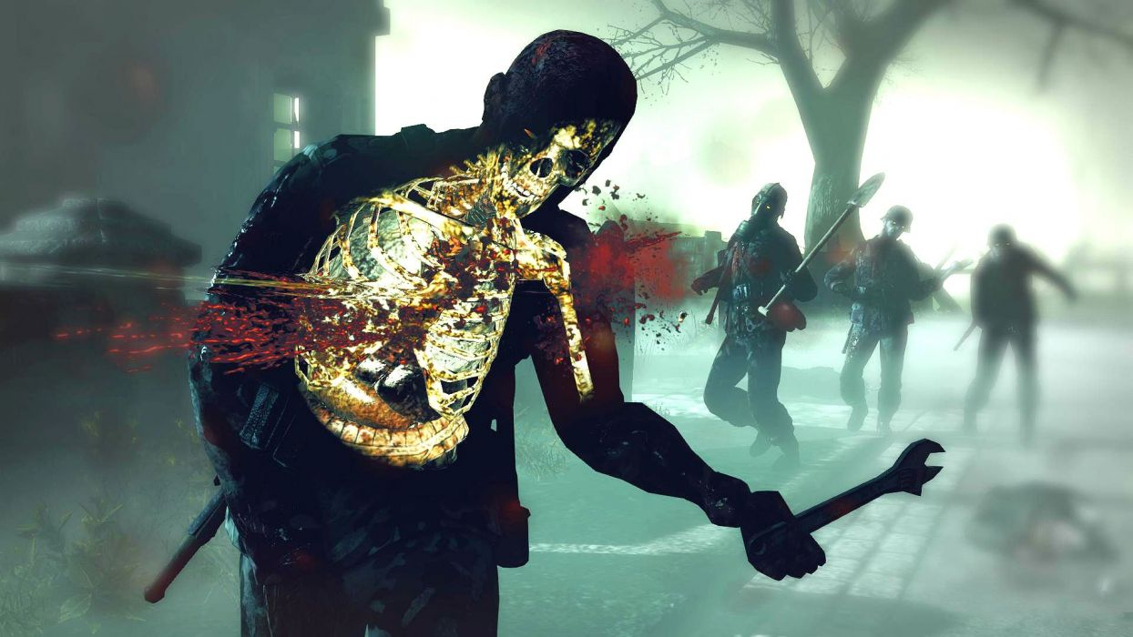NAZI ZOMBIE ARMY TRILOGY survival horror shooter dark action 1zatrilogy apocalyptic nazi fighting tactical sci-fi sniper elite blood skull skeleton wallpaper