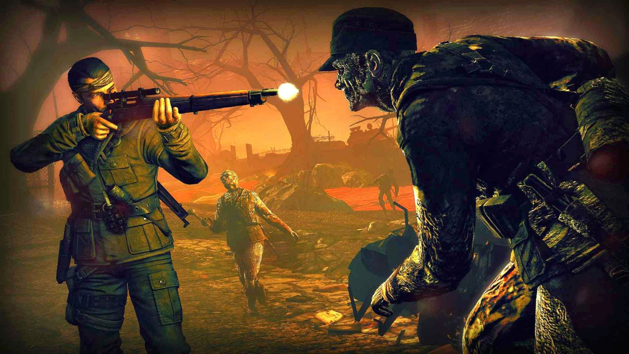 NAZI ZOMBIE ARMY TRILOGY survival horror shooter dark action 1zatrilogy apocalyptic nazi fighting tactical sci-fi sniper elite wallpaper