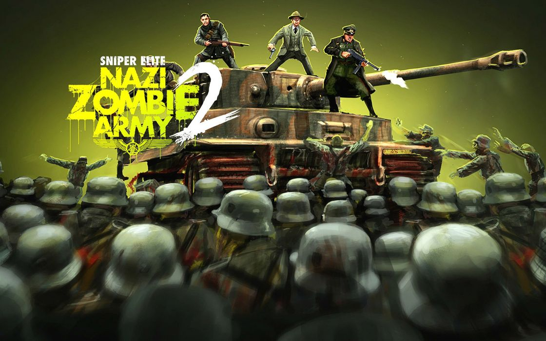 NAZI ZOMBIE ARMY TRILOGY survival horror shooter dark action 1zatrilogy apocalyptic nazi fighting tactical sci-fi sniper elite poster tank military wallpaper