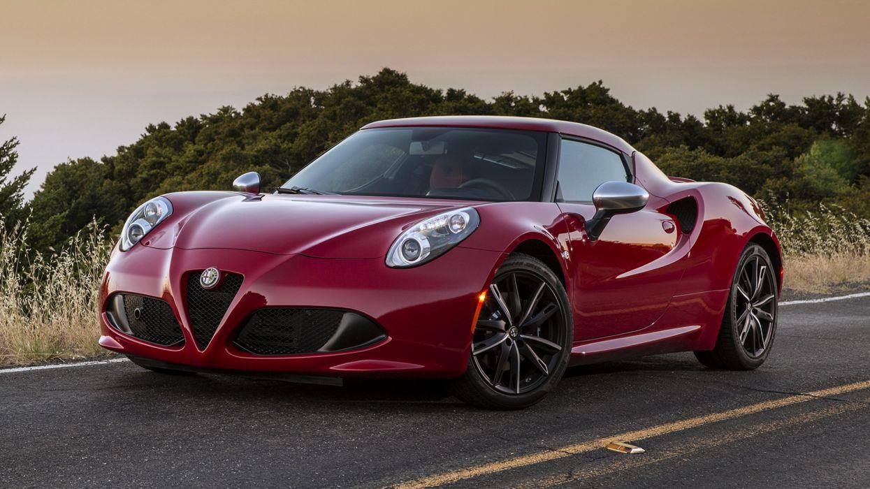 Alfa-Romeo-4C 2015 red cars speed motors road wallpaper