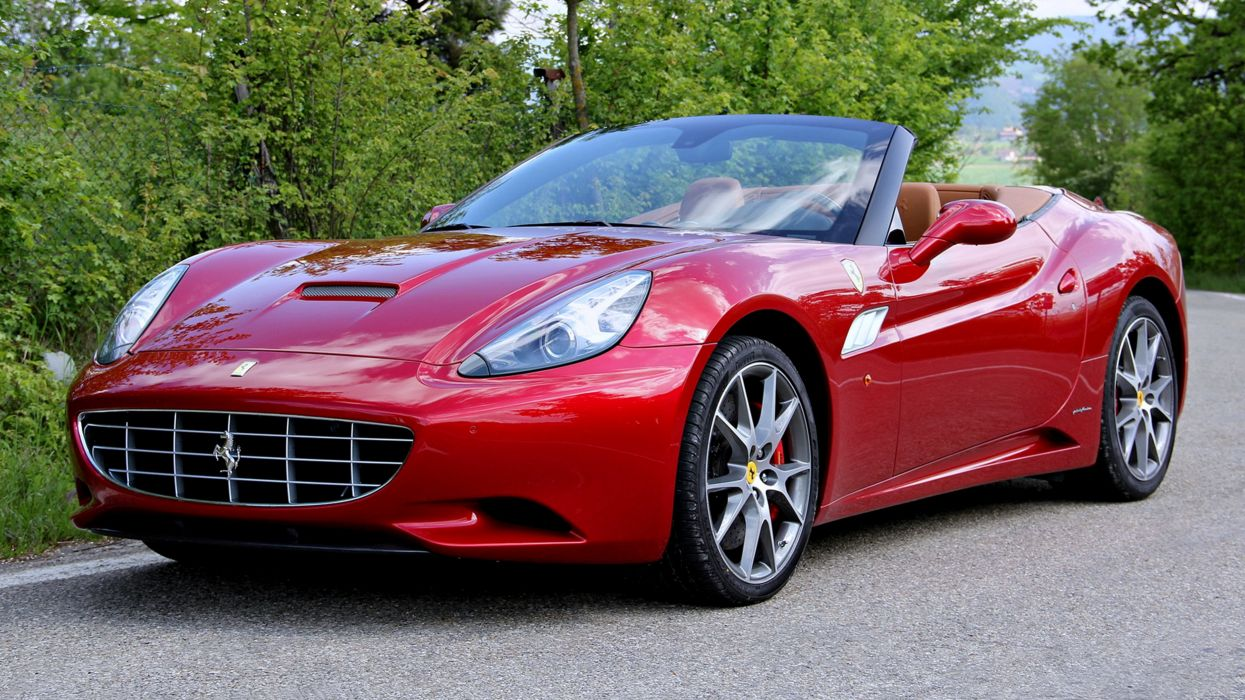Ferrari California-30 red 2012 speed motors wallpaper