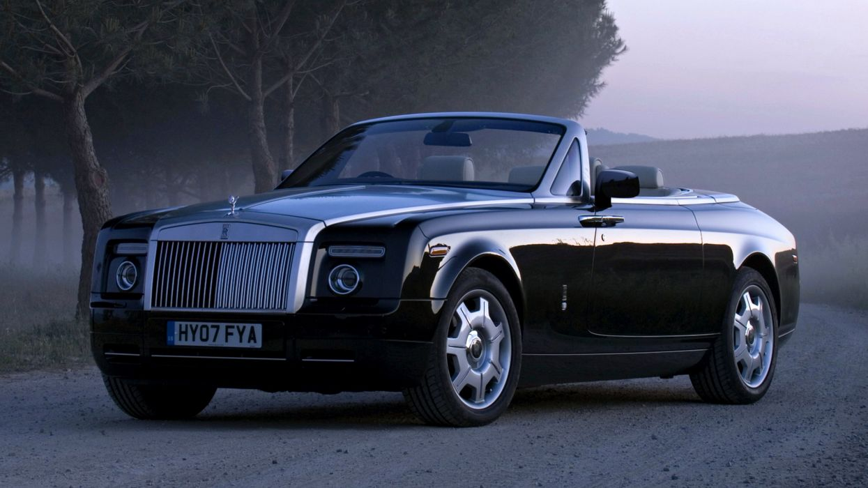 Rolls-Royce Phantom Drophead Coupe fog cars speed motors 2008 wallpaper
