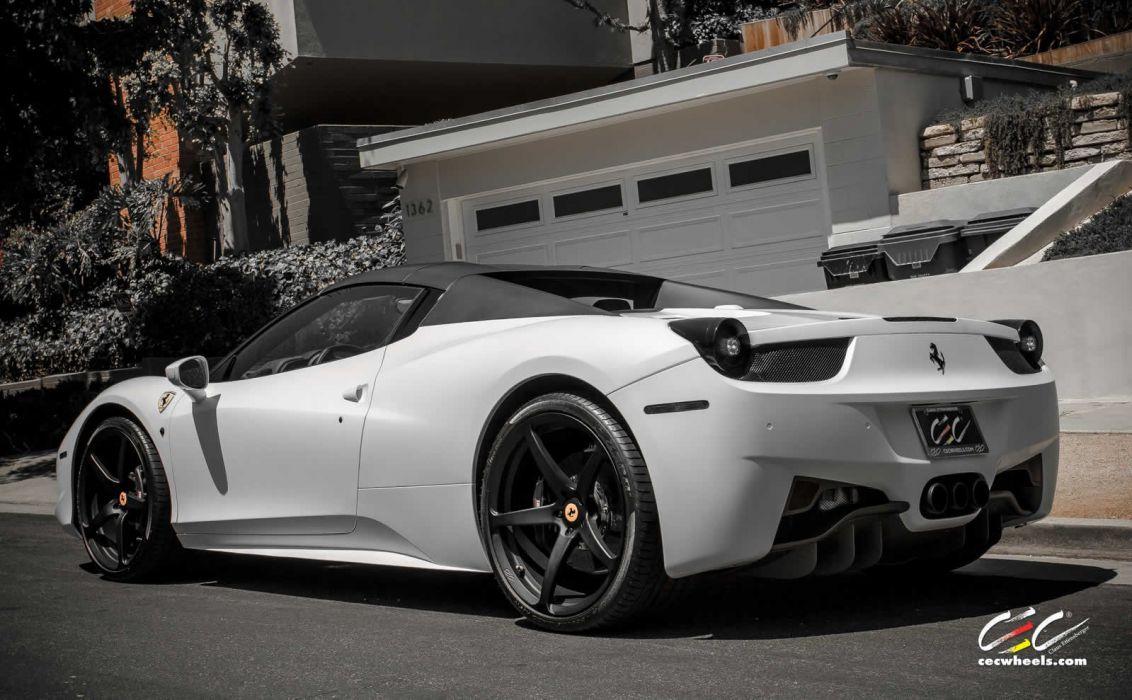 2015 CEC wheels tuning cars supercars coupe Ferrari 458 spider convertible wallpaper