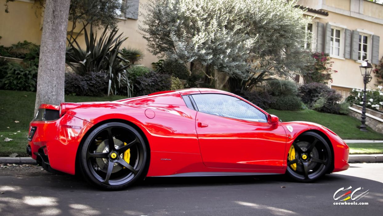 2015 CEC wheels tuning cars supercars coupe Ferrari 458 spider convertible wallpaper
