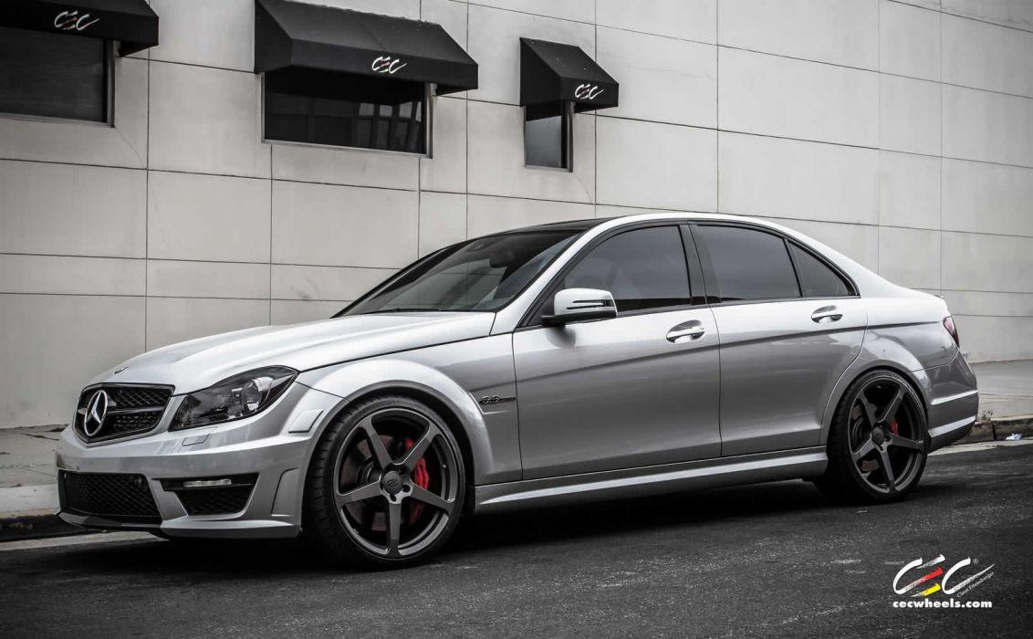 2015 CEC wheels tuning cars Mercedes Benz c63 amg wallpaper