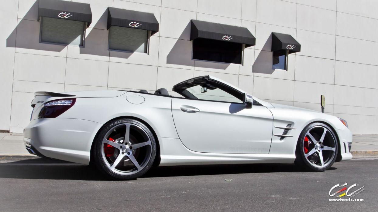 2015 CEC wheels tuning cars Mercedes Benz sl63 amg convertible wallpaper