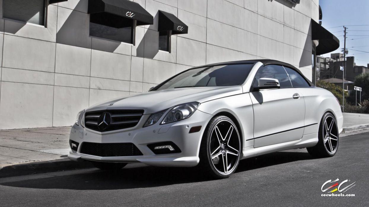 2015 CEC wheels tuning cars Mercedes Benz e550 convertible wallpaper