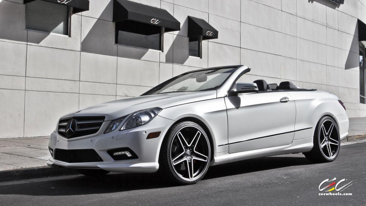 2015 CEC wheels tuning cars Mercedes Benz e550 convertible wallpaper ...