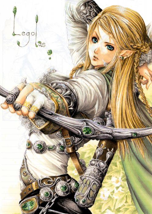 fantasy blond hair lord+of+the+rings-legolas blue eyes arrow male wallpaper