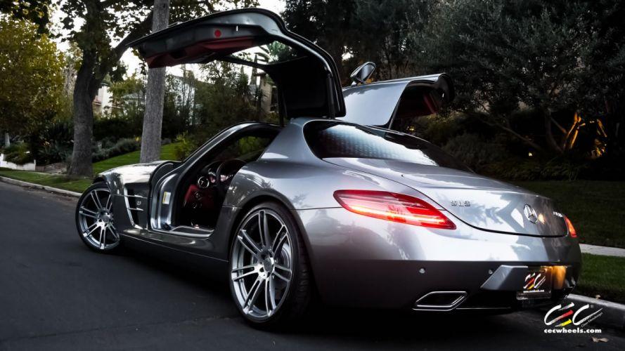 2015 CEC wheels tuning cars Mercedes Benz sls wallpaper