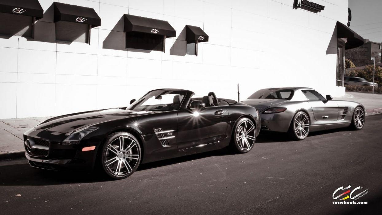 2015 CEC wheels tuning cars Mercedes Benz sls roadster wallpaper