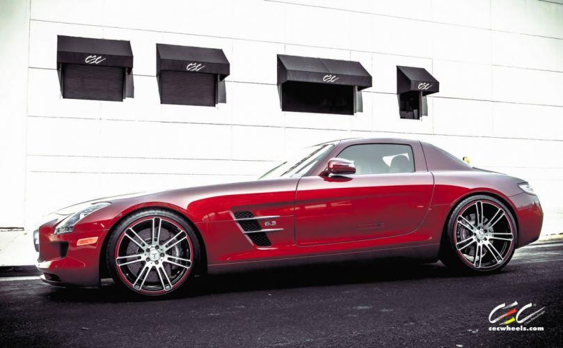 2015 CEC wheels tuning cars Mercedes Benz sls coupe wallpaper