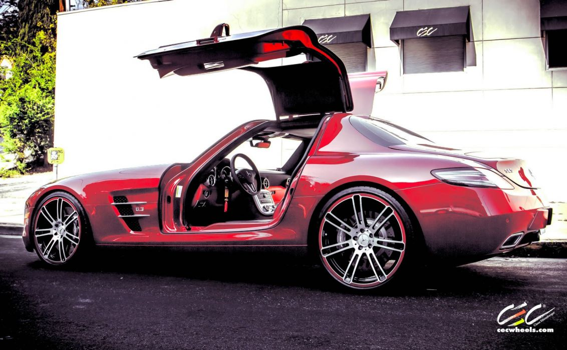 2015 CEC wheels tuning cars Mercedes Benz sls coupe wallpaper