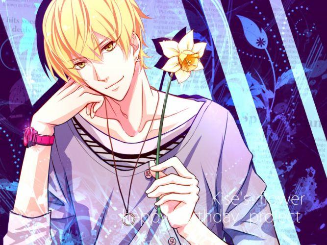 kuroko no basket character kise ryouta male flower wallpaper