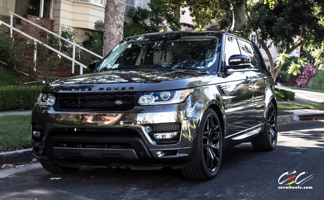 2015 CEC wheels tuning cars suv range Rover sport chrome vinyl wrap wallpaper