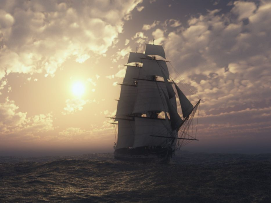 SHIP AT SEA wallpaper