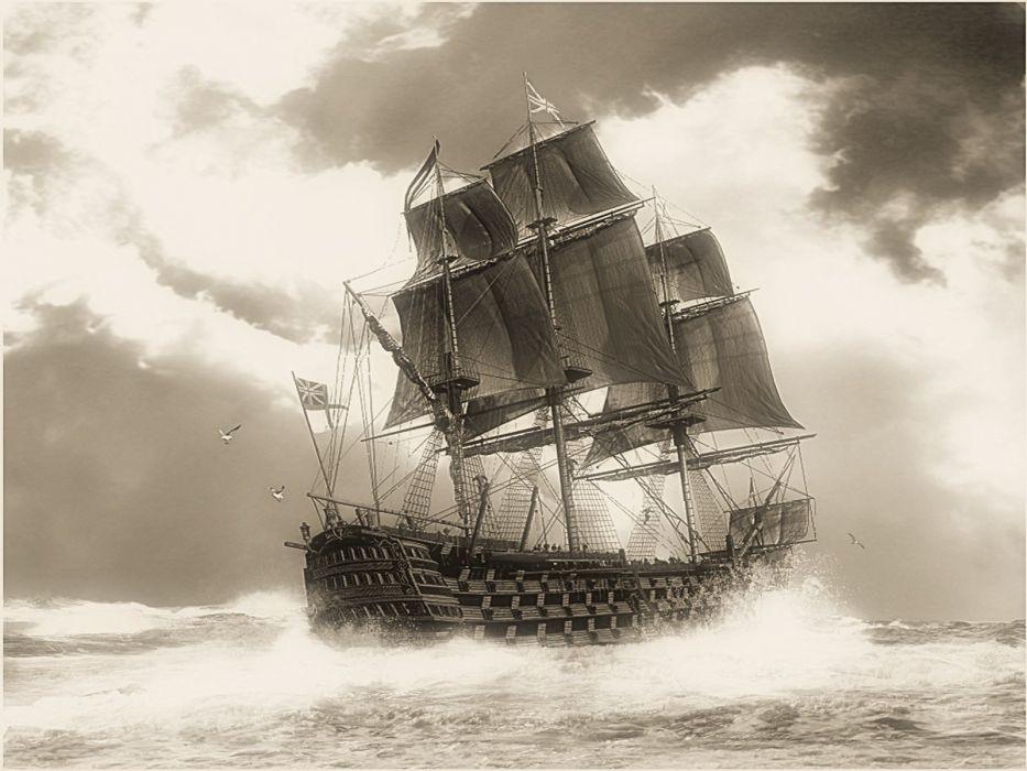 SHIP AT SEA wallpaper