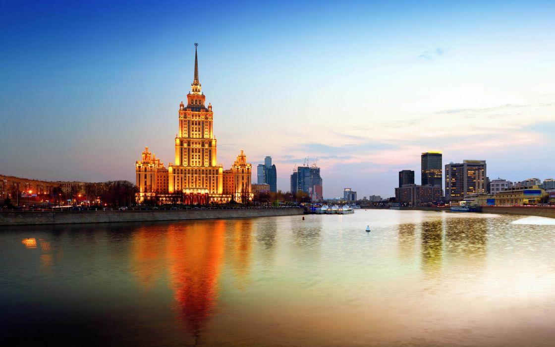 moscu-rusia-rio-volga-kremlin-ocaso wallpaper