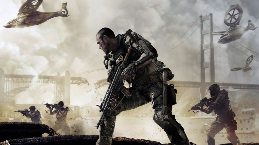 CALL Of DUTY Advanced Warfare tactical shooter stealth action military fighting cod sci-fi warrior weapon gun wallpaper