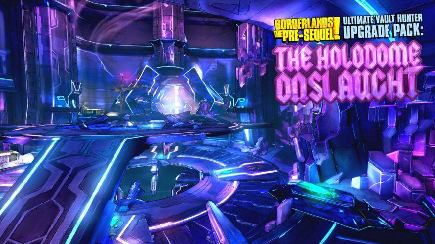 BORDERLANDS Pre-Sequel Vault Hunter action fighting shooter sci-fi adventure holodome onslaught poster wallpaper