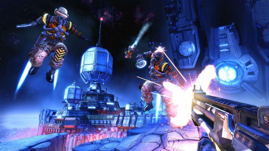 BORDERLANDS Pre-Sequel Vault Hunter action fighting shooter sci-fi adventure holodome onslaught wallpaper